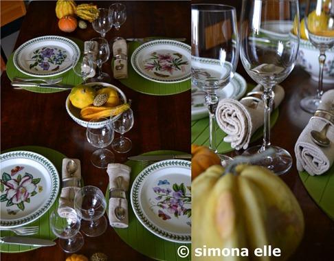autunno zucche sottopiatti verdi 1