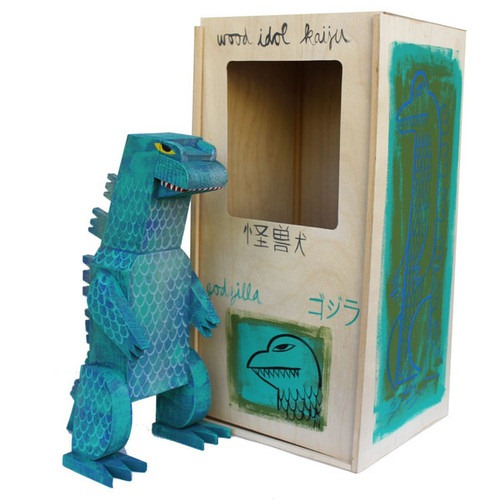 Godzilla Wood Idol by Amanda Visell