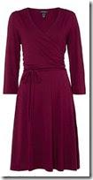 Lands End Ruched Wrap Jersey Dress