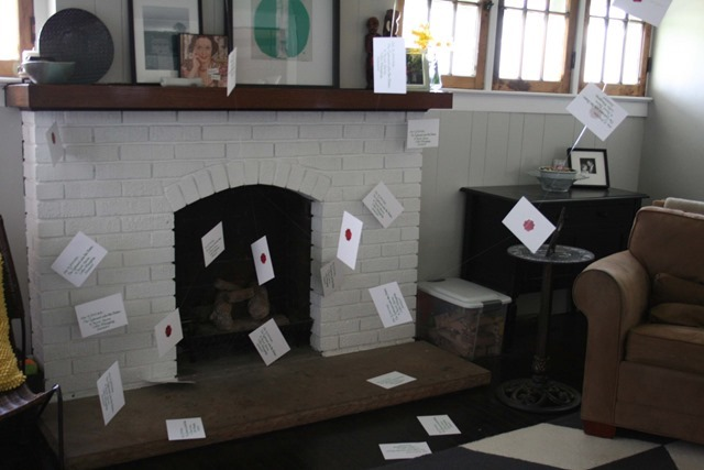 Harry Potter Envelopes in Fireplace