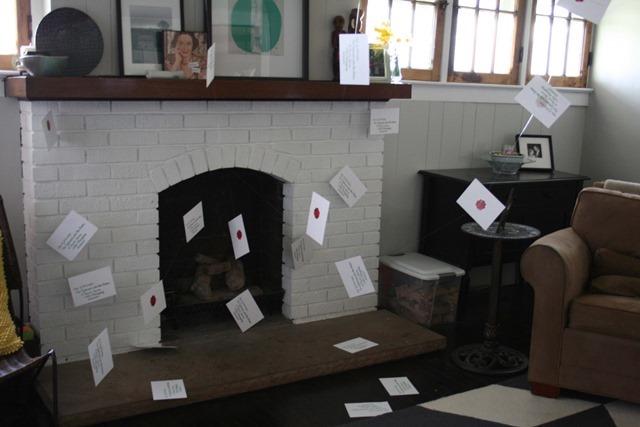 Harry Potter Envelopes in Fireplace