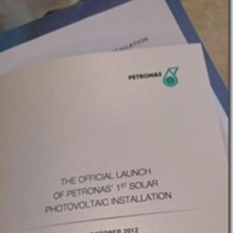 Pemasangan Solar Photovoltaic Petronas yang pertama.