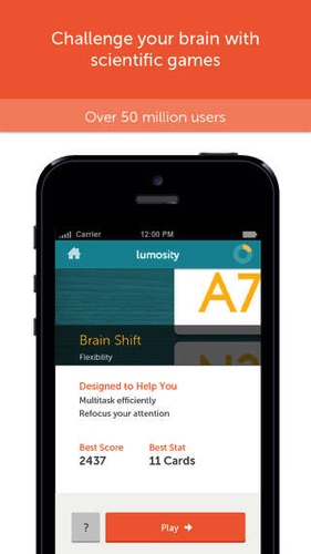 Lumosity mobile ios app