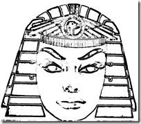 cleopatra-mask_colorear 1