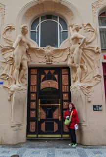 Prague doorways are amazing