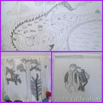 Turtlegirl Art Collage