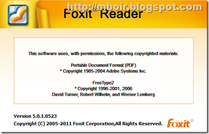 Foxit Reader 5 - mboir