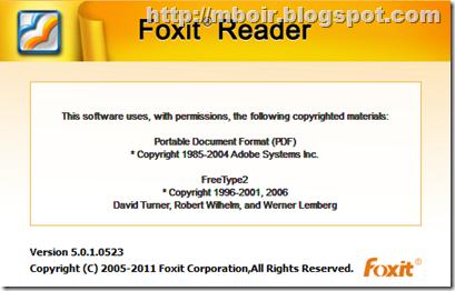 Foxit Reader 5 - mboir