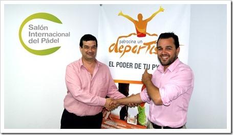 Salón Internacional del Pádel y Patrocina un deportista sellan un acuerdo oficial.
