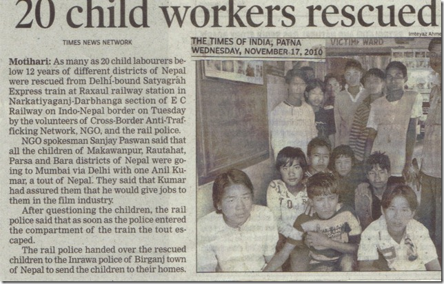 Child Workers Rescued