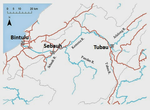 地図1:クムナ・ジュラロン水系地図