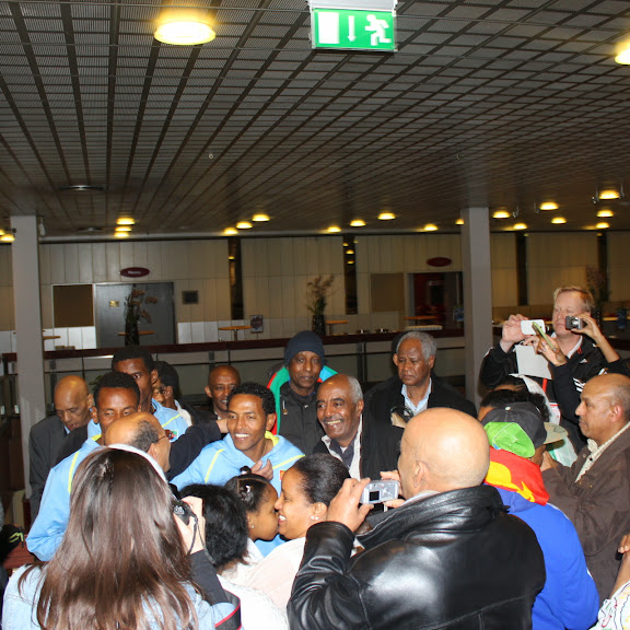 Arrival of Team Eritrea in Copenhagen for the World Half Marathon