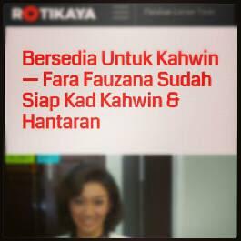 Fara Fauzana Sudah Siap Kad Kahwin Dan Hantaran