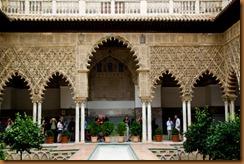 seville, alcazar courtyard