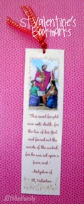 st valentine's bookmarks