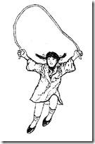 Jugando saltar  cuerda