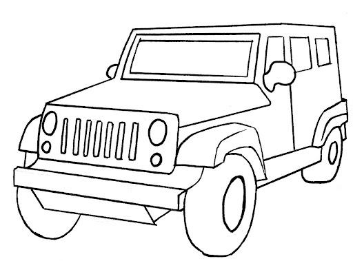 Lujo Jeep Para Colorear Ilustración - Páginas Para Colorear ...