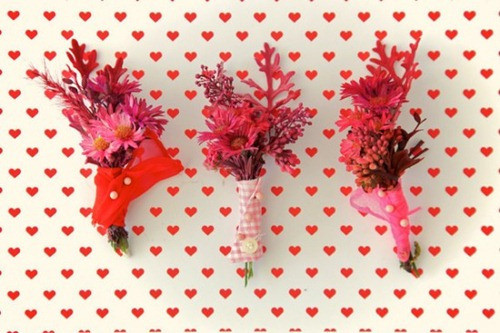 Papernstitch Vintage Button Down Shirt Bouquet and Boutonniere