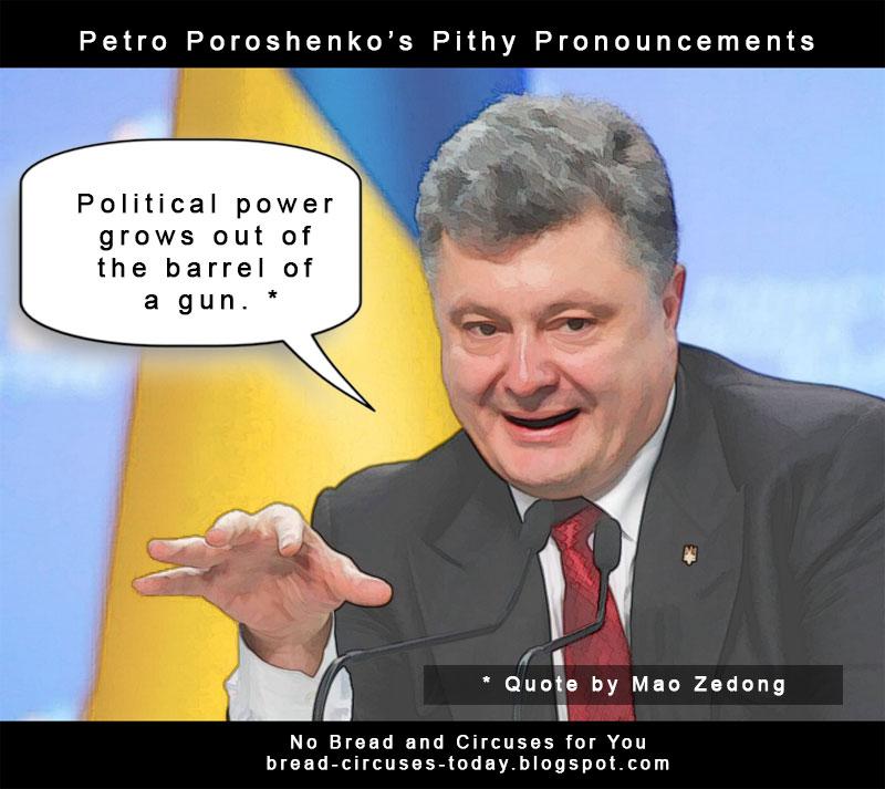 Cc poroshenko political power barrel of gun