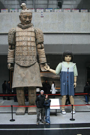 These two giant marionettes were part of a performance during the 2008 Beijing Olympic Games, and are the biggest in the world and completely handmade. Also sponsored by Johnson & Johnson...