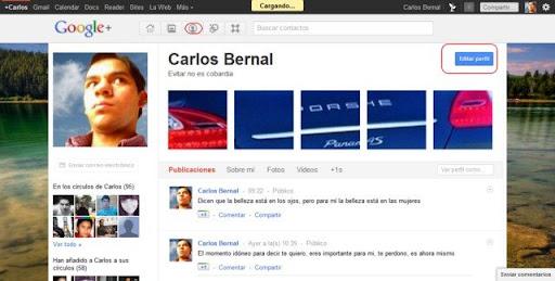Cómo editar el perfil el Google+ plus img1