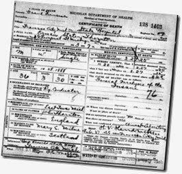 THORNTON_Orman S_death cert_27 Feb 1925_TraverseCityGrandTraverseMichigan