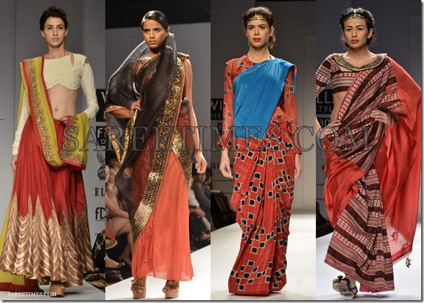 WLIFW_Spring_Summer_2013_Maroon_Sarees
