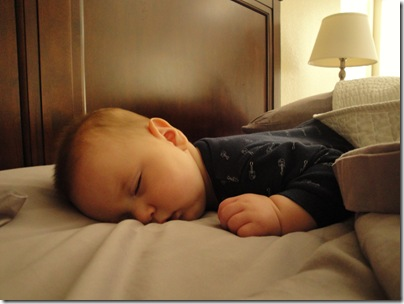 1.  First time sleeping on tummy