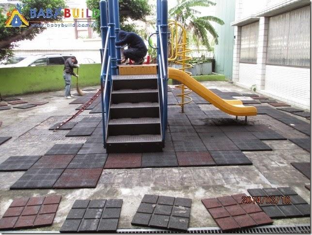 去除脫膠地墊 & 遊戲設施除鏽上漆