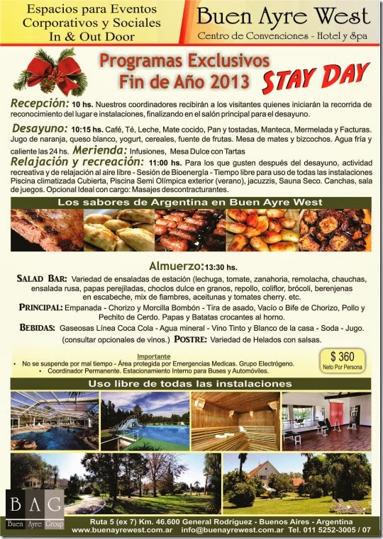 Programas exclusivos fin de año 2013 empresas Stay Day