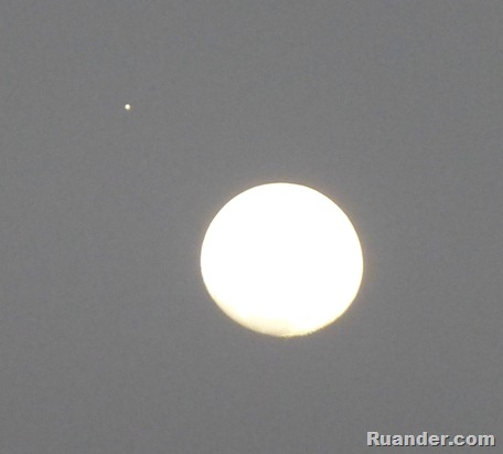 Jupiter and the Moon 2
