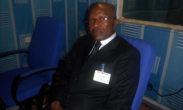 Sénateur Michel Bongongo Ikoli  Ndombo au studio de Radio Okapi, Janvier 2012 (Ph. Nyangasa)