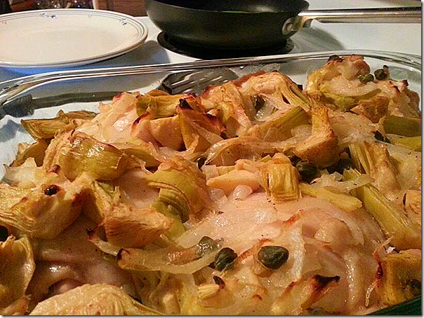 Practice Paleo - Lemon Chicken with Artichoke, Capers, and Onions