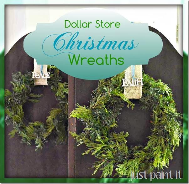 Dollar-Store-Wreaths