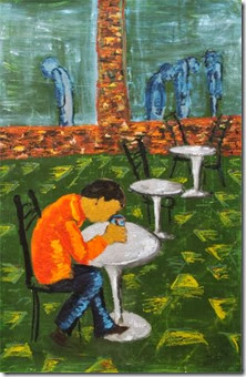Alone in the Coffee Shop by Giliah