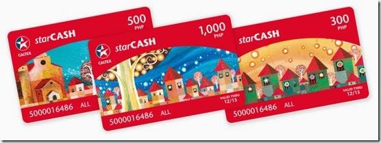 Christmas Starcash cards