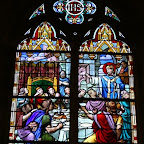 St-Vaast: stained glass church windows