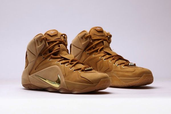 Additional Look at Upcoming 8220Wheat8221 Nike LeBron XII EXT QS