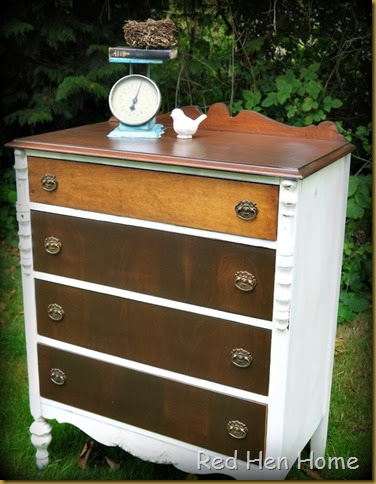 Red Hen Home White & Wood Dresser 2