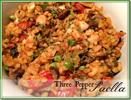 three pepper paella