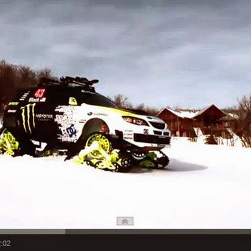 Το γρηγορότερο Snowcat στο  κόσμο Subaru Impreza