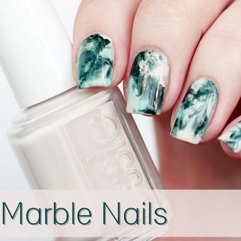 [Nail Art] Dry Marble Nails