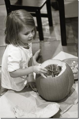 Hannah BW pumpkin 3