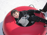 Eidan on the inner tube ride at Keystone