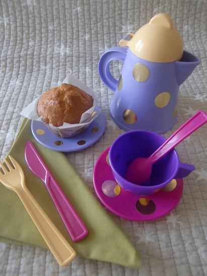 Servilletas y juego de té