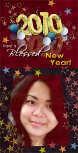 A layout I made as my New Year greeting bookmark for friends - JustAnotherPixel.net