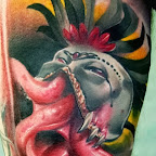 Octopus and the mask - tattoos for men