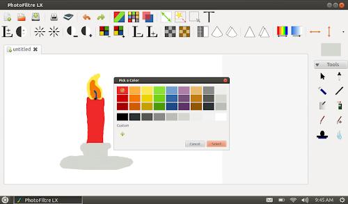 PhotoFiltre LX su Ubuntu