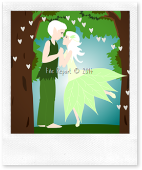 Aperçu du faire-part de mariage elfes foret carré