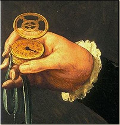 Détail de la montre la plus ancienne en peinture